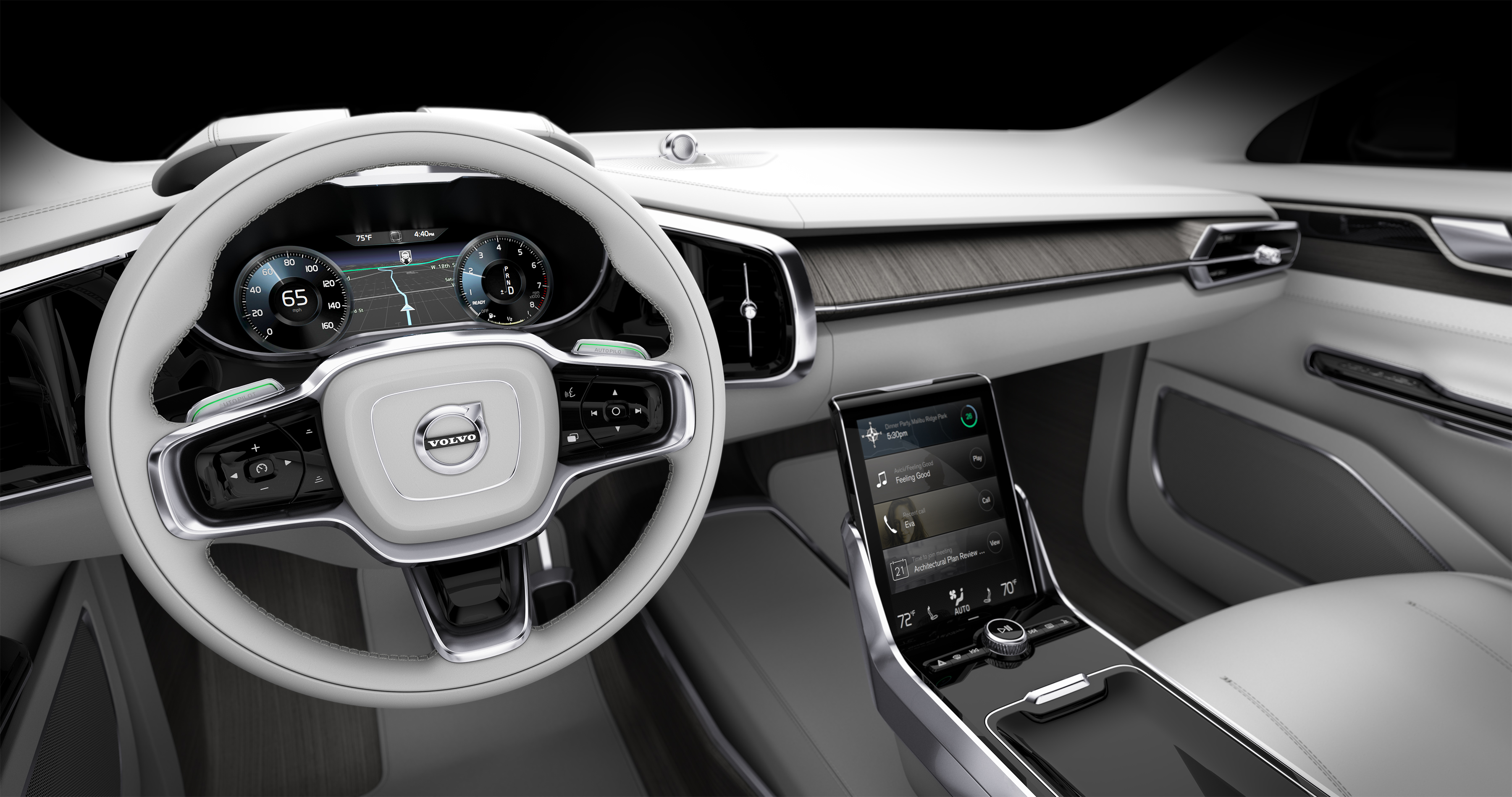 volvo 39 s new autonomous interior car ergonomics knw your latest. Black Bedroom Furniture Sets. Home Design Ideas