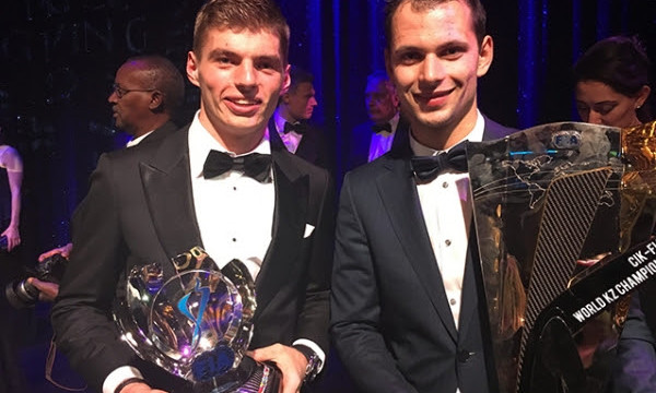 Former CRG driver Max Verstappen received three prizes for his brilliant F1 season.