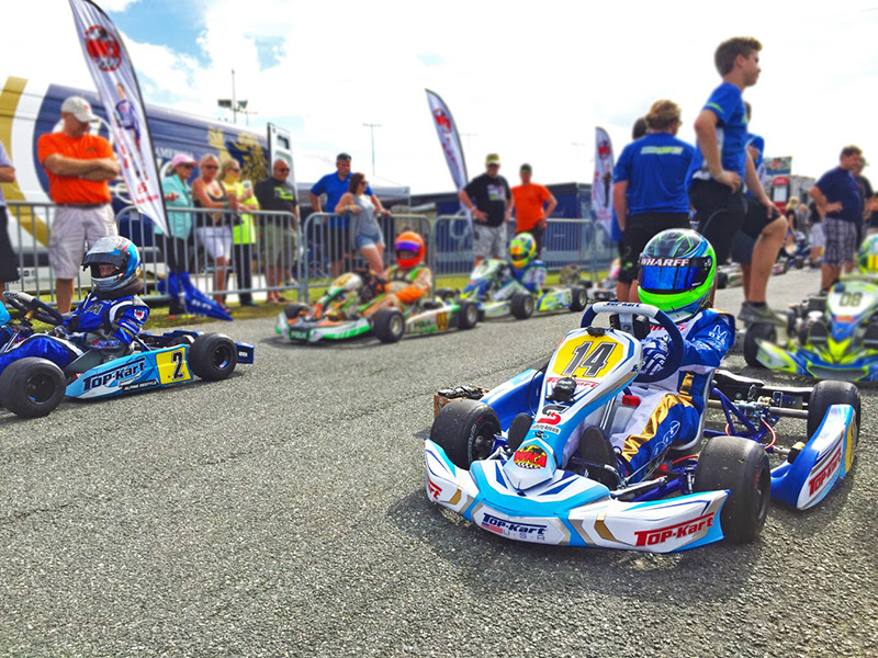 A pair of Top Karts line up at the front of the filed in Daytona (Photo Top Kart USA)