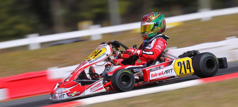 Dylan Tavella On The Podium For PSL Karting