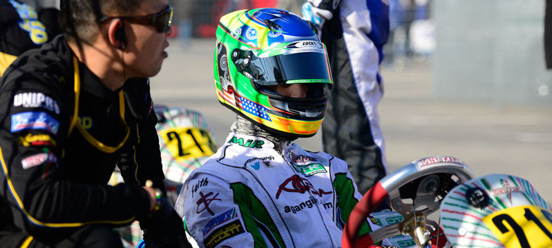 STRONG PERFORMANCE FOR ANTHONY GANGI JR. IN WSK SENIOR CLASS DEBUT