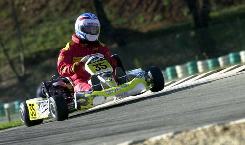 Robert Bedard racing in karts