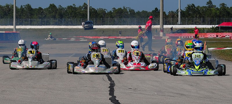 The Junior field was one of the most intense classes to watch throughout the weekend (Photo ROK Cup Promotions)