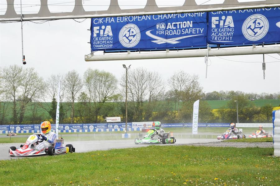 All set and ready in France for the CIK-FIA KZ and KZ2 European Championship rain conditions