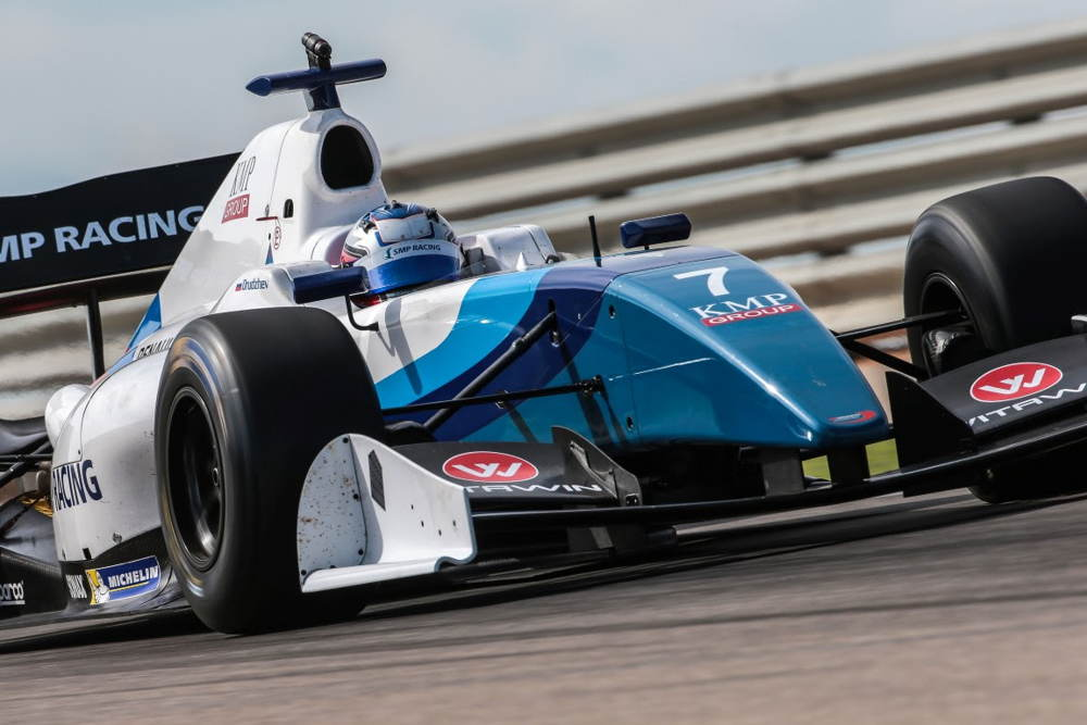 Egor Orudzhev in his formula 3.5 at the first round of the 2016 season