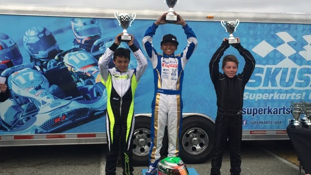 It was a podium sweep for P1 Engines in X30 Junior at Pro Kart Challenge (Photo P1 Engines)