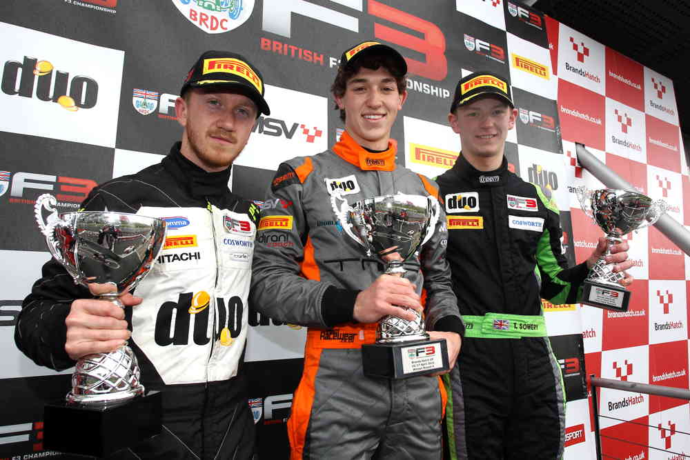 Leist, Collard and Sowery took to the podium after the race