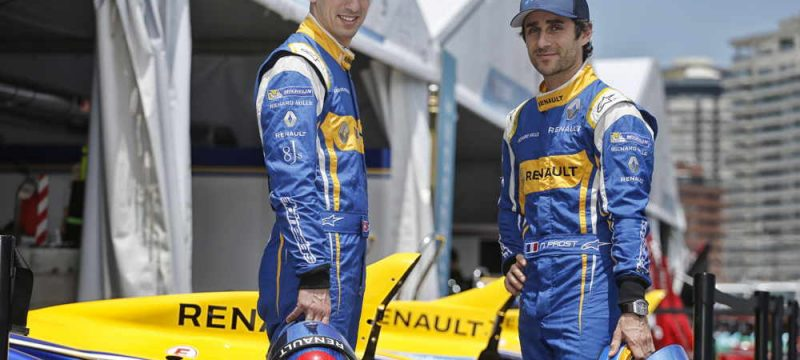 Sebastien Buemi and Nico Prost in uniform
