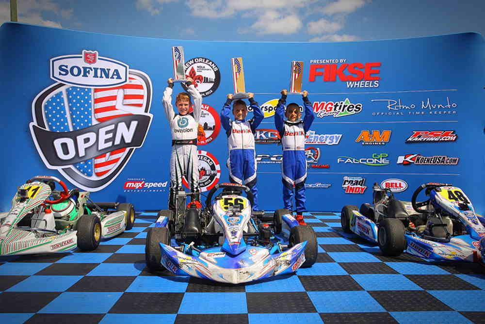 BENIK Kart lead every official on track session all week long podium presentaitons