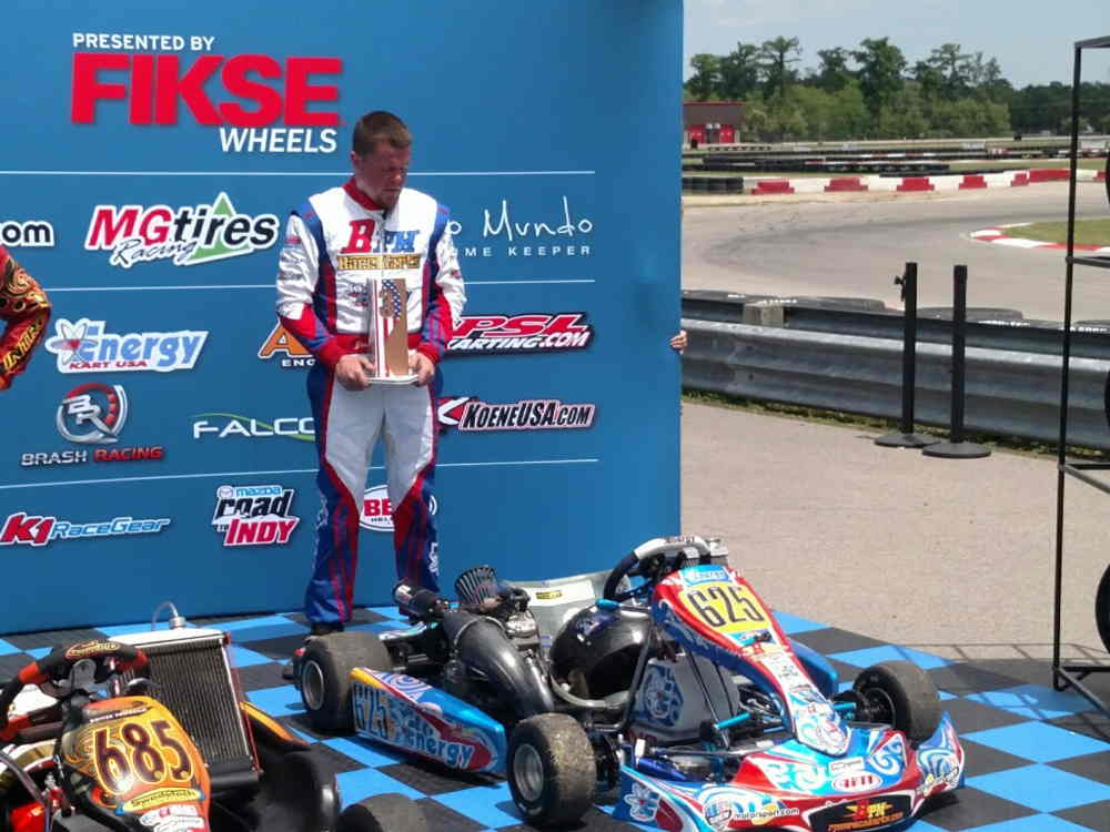 Jerry Rhodes provided Energy Kart with another podium on the weekend in Shifter Masters