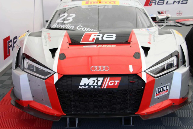 M1 GT racing ready in the racing tent