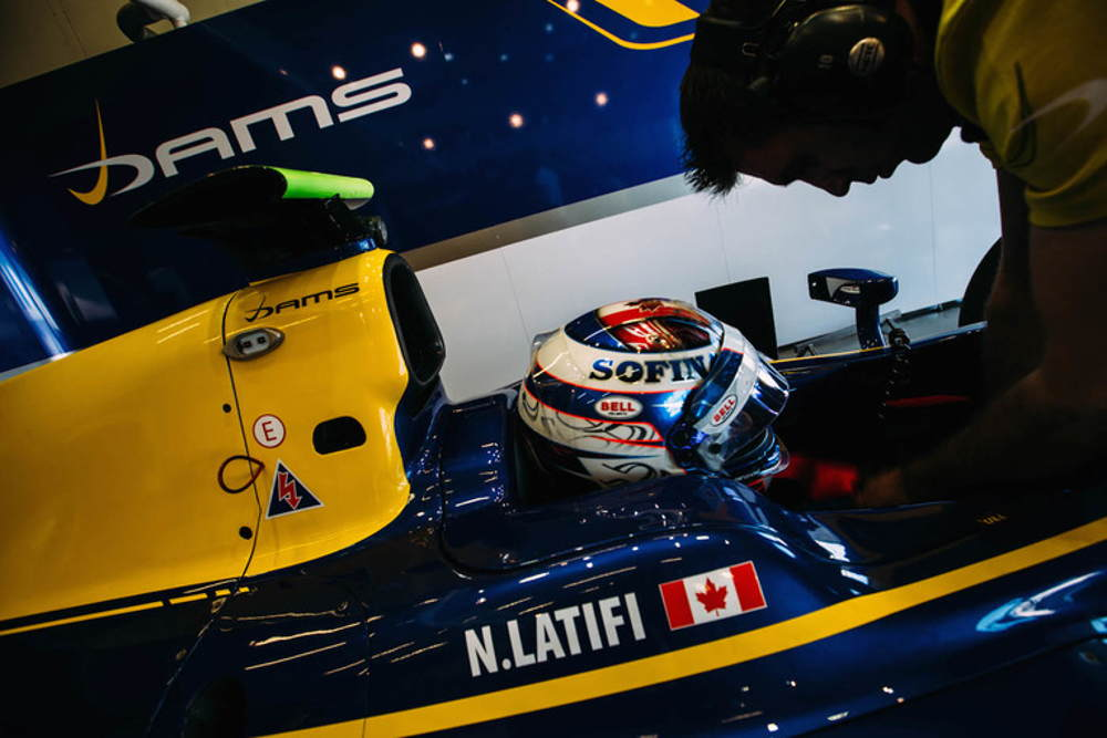 Nicholas Latifi in has car ready for race time