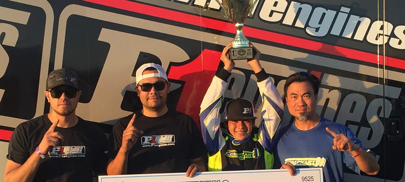P1 Engines celebrates another SKUSA Pro Tour victory in X30 Junior with Dante Yu