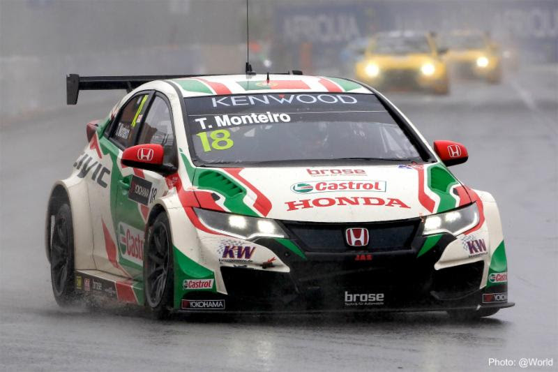Tiago Monteiro adds fifth podium to his total in 2016 FIA WTCC on track