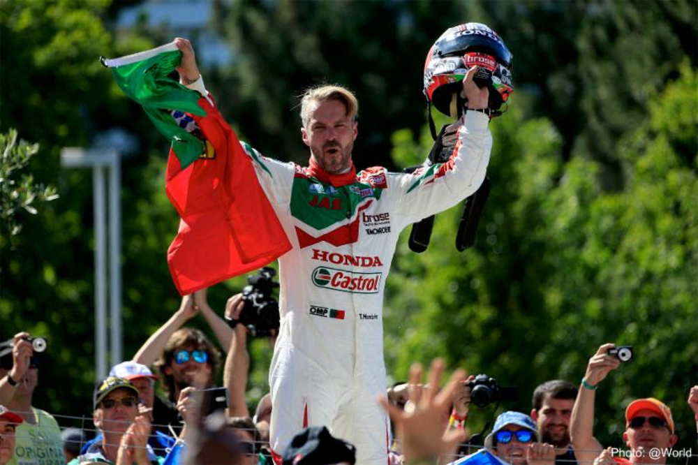 Victory for Tiago Monteiro in Vila Real on the podium