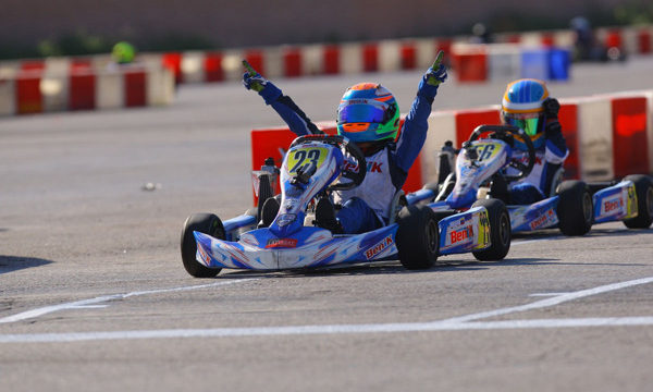 benik kart winning on track