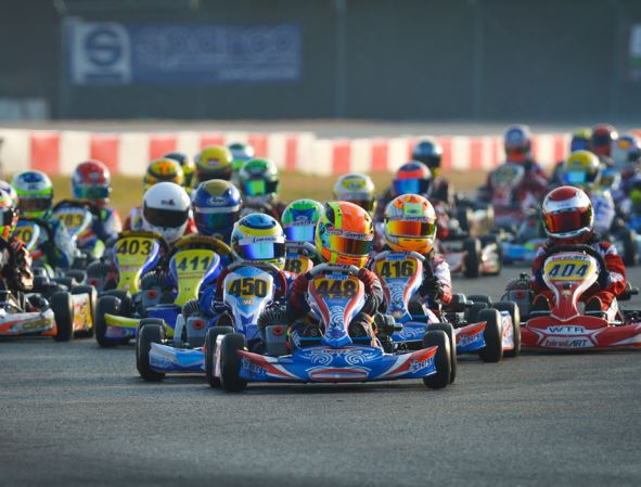 Energy Corse on the podium race start