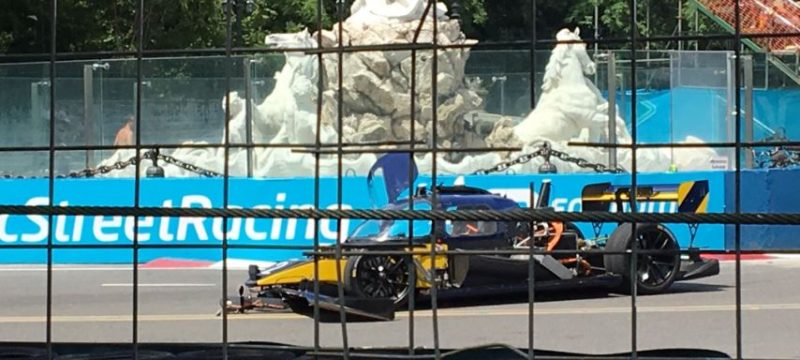 Roborace car crash photo Buenos Aires