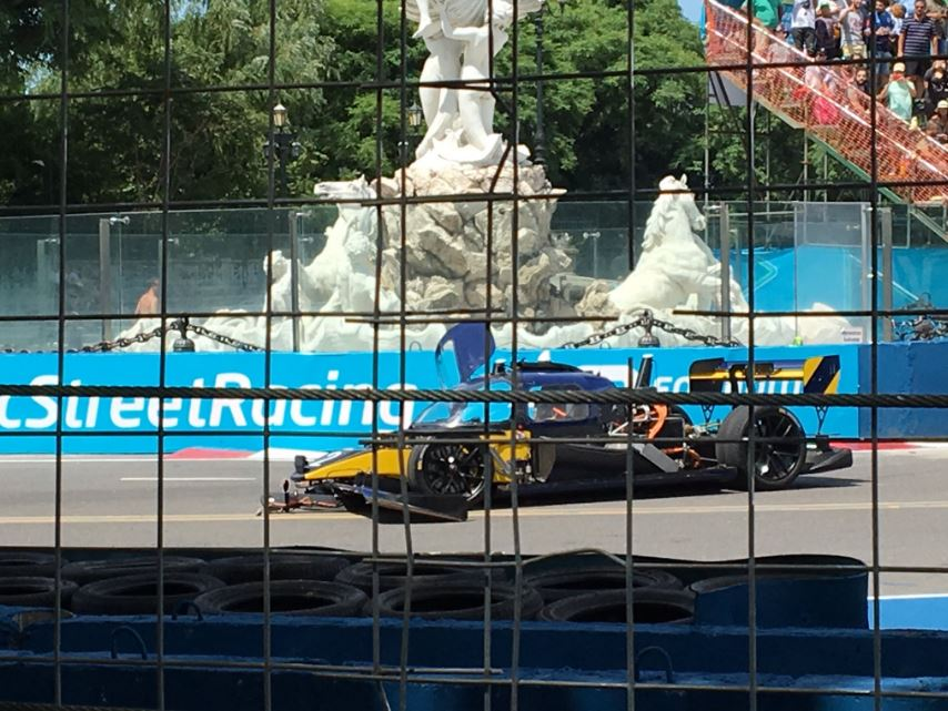 Roborace test 1 finishes with a crash!