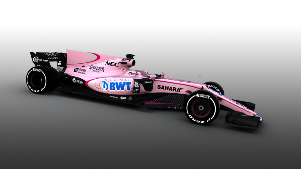 Force India unveil startling new pink livery for 2017