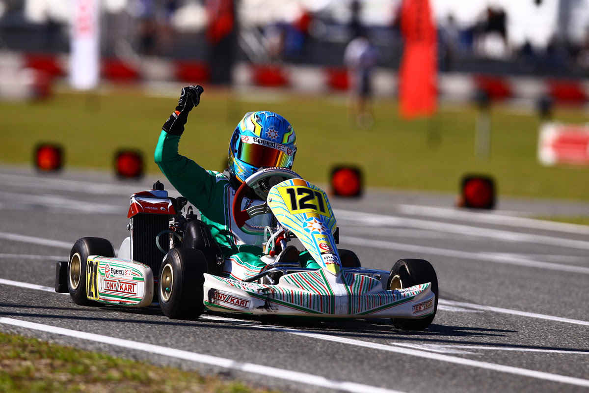 Kyffin Simpson was victorious in Rotax Mini Max (Photo Cody Schindel CanadianKartingNews.com)