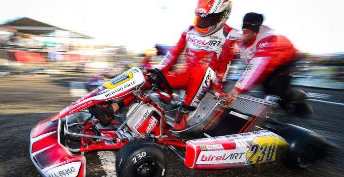 The Birel ART Racing Team on track