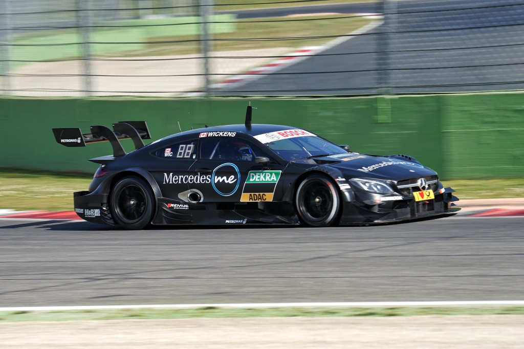 Wickens on track testing the new C63 DTM