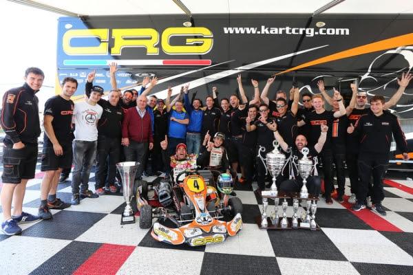 CRG Racing Team with Paolo De Conto and Gabriel Bortoleto