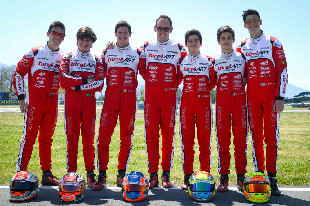 Tough racing in Sarno For the Birel Art Factory Team