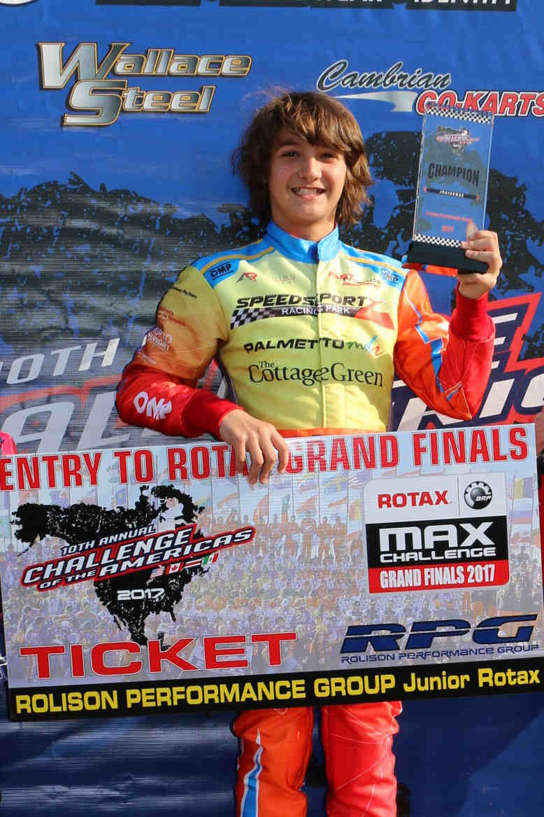 JAK CRAWFORD HEADS BACK TO ROTAX GRAND FINALS IN PORTUGAL