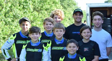 Drivers from Trackside Karting Services are all smiles at the Texas ProKart Challenge (Photo Carolyn Wiley)