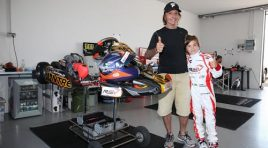 A lot of champions: Fittipaldi, Trulli, Badoer and Wilson at the Italian ACI Karting Championship following Mini