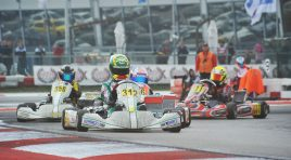 Before the second round of Adria, on schedule from 9th to 12th November, the leaders of the standings of the WSK Final Cup are Travisanutto (I – Zanardi-Parilla OK), Gustafsson (S – Tony-Vortex OKJ), Lorandi (I – Tony-Vortex KZ2) and Bedrin (RUS – Tony-TM 60 Mini).