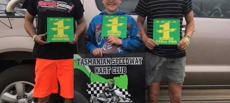 Red Flag Can't Stop Tassie Speedway Kart Titles