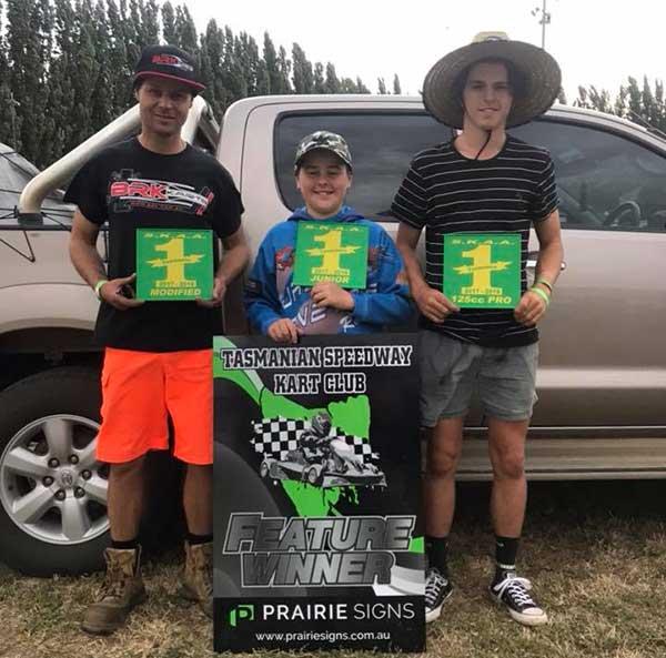 Red Flag Can't Stop Tassie Speedway Kart Titles