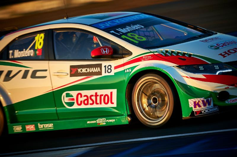 Tiago Monteiro's winning car