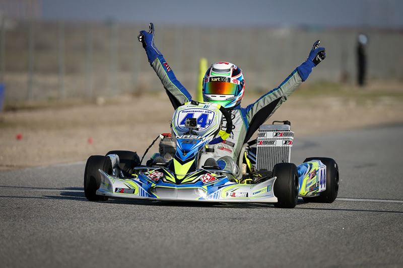 P1 ENGINES SWEEP X30 ACTION AT SKUSA PRO KART ROUND ONE