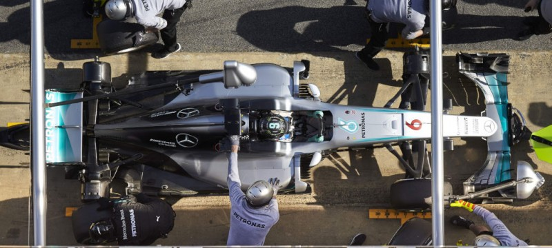 Nico Rosberg practice pit stop