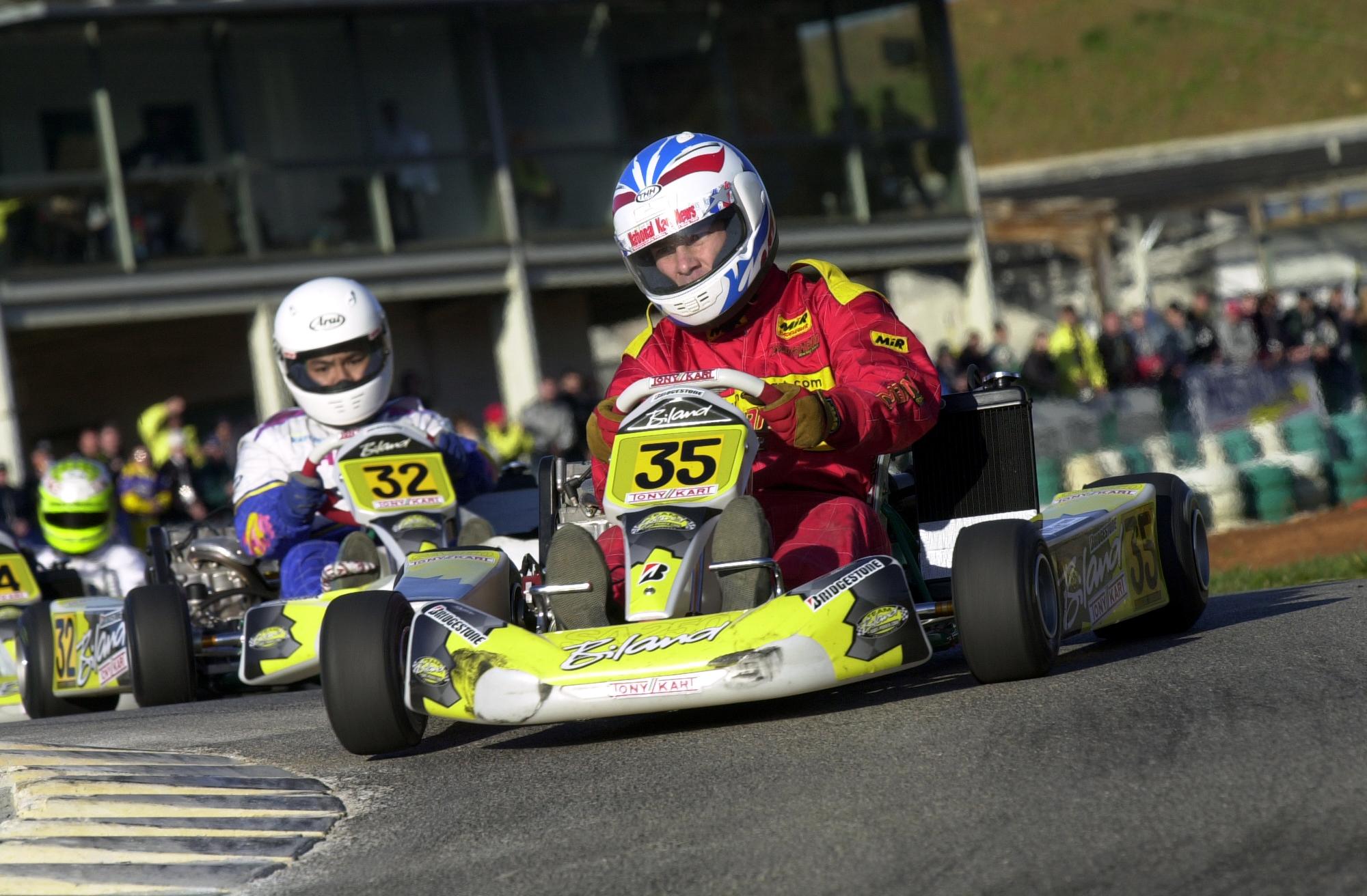 Robert Bedard racing in his kart