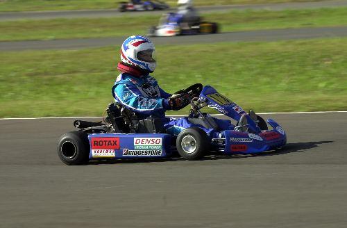 Robert Bedard racing in karts 2