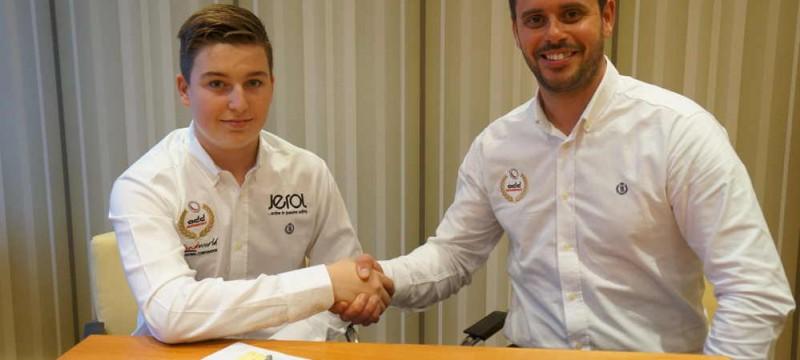 Jack McCarthy (L) with ADD Motorsport's Fraser Sheader   (R)