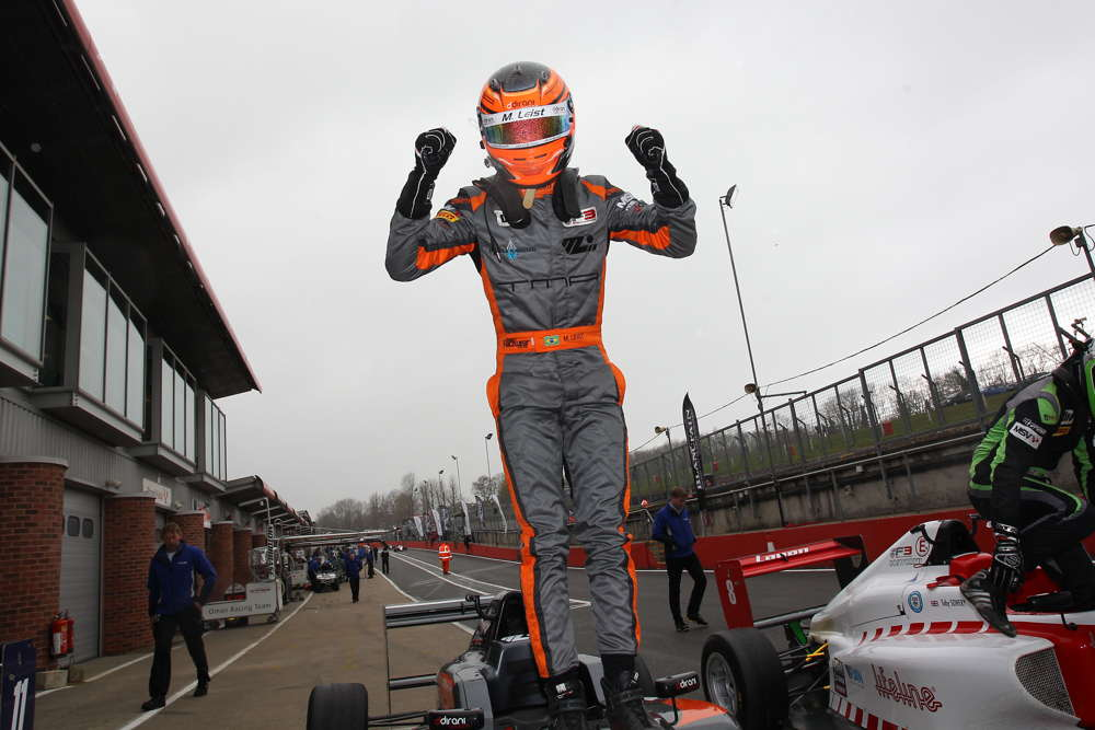 Leist takes lights-to-flag victory in opening race of the weekend at Brands