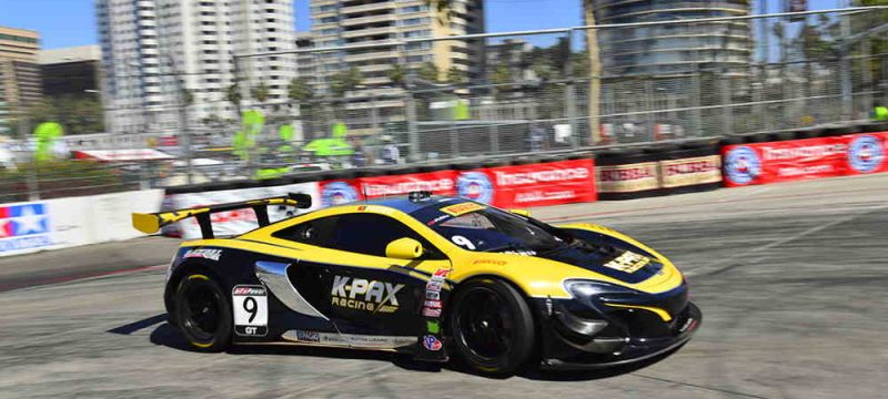 McLaren 650S GT3 takes victory in Long Beach close up