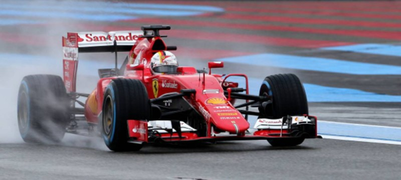 Sebastian Vettel on track