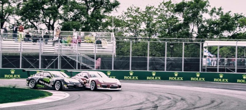 Morad and Robichon Clash in the last race of the Porsche GT3 at the Canadian Grand Prix