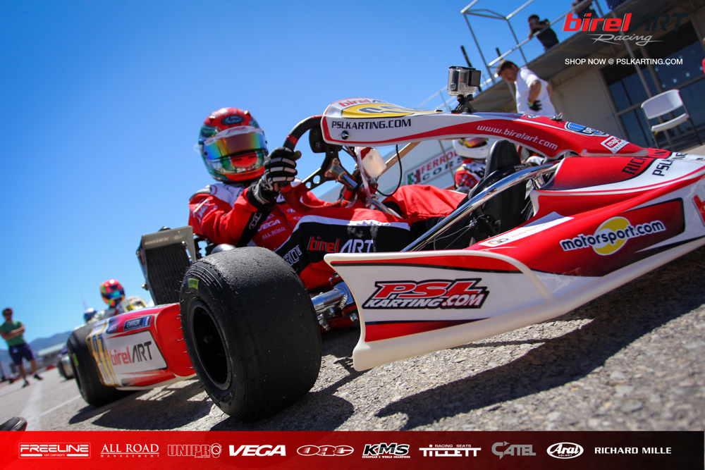 Psl karting driver on the false grid