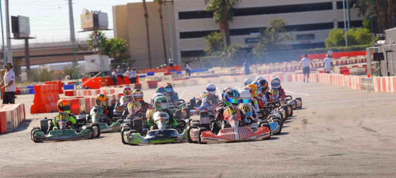 Jak Crawford and Team Koene USA led every lap of Rotax Mini Max competition Photo by CKN