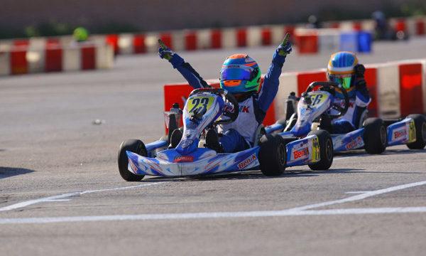 benik kart winning on track
