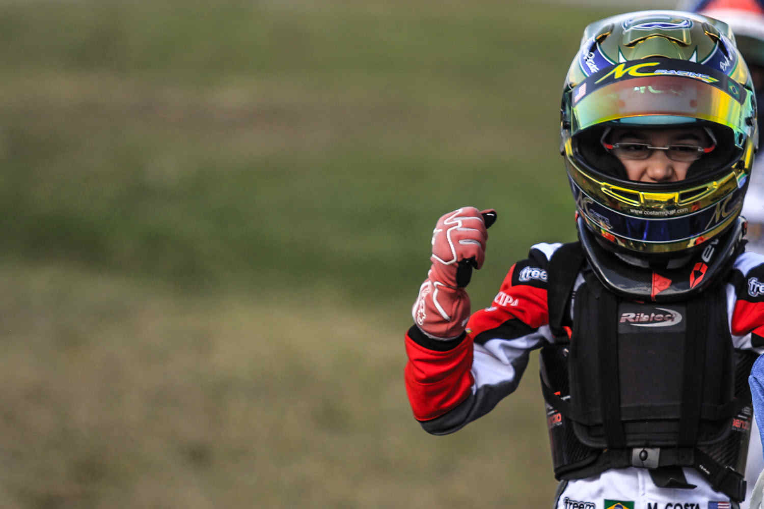 Justin Aresenau, drove one of the most exciting races of the weekend in Mini Max