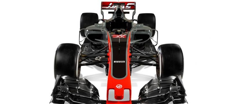Haas VF17 Launch Video F1 2017 Car front view
